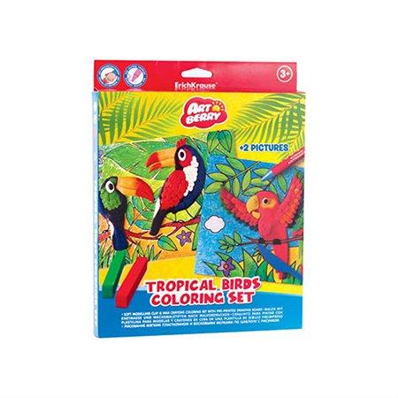 Набор канцелярский ArtBerry Tropical Birds Coloring 36969