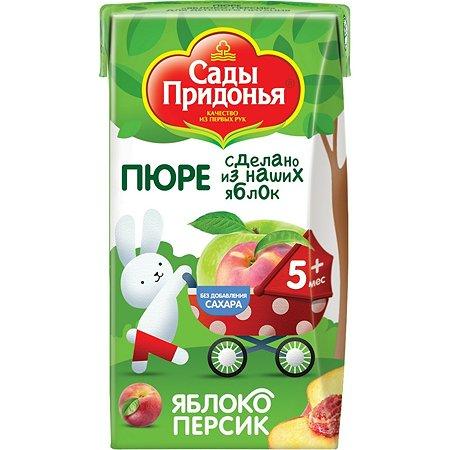 Пюре Сады Придонья яблоко-персик 125г с 5месяцев