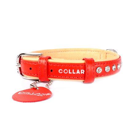 Ошейник для собак CoLLar Brilliance со стразами премиум класса Красный 38013