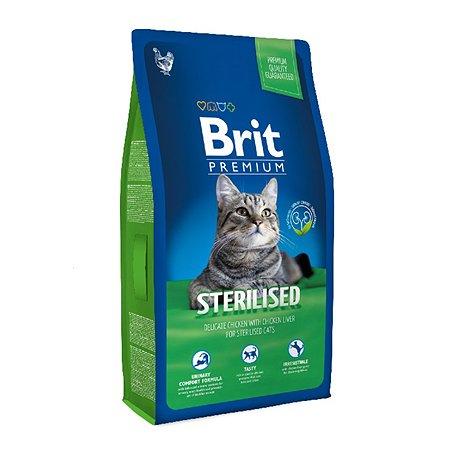 Корм для кошек Brit Premium стерилизованных курица 8 кг