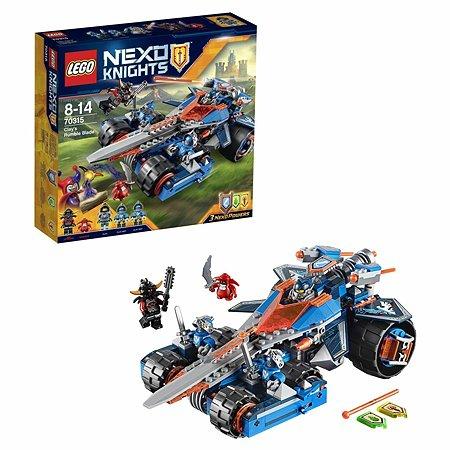 Конструктор LEGO Nexo Knights Устрашающий разрушитель Клэя (70315)