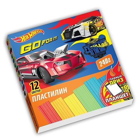 Пластилин Barbie Hot Wheels 12 цветов 240 г
