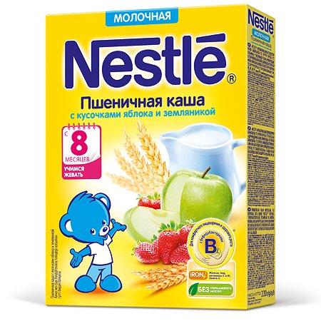 Каша Nestle пшеничная яблоко-земляника 220 г с 8 месяцев