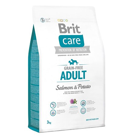 Корм для собак Brit Care всех пород беззерновой с лососем и картофелем сухой 3кг