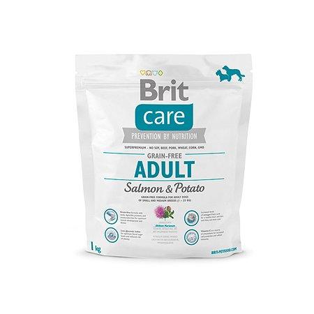 Корм для собак Brit Care всех пород беззерновой с лососем и картофелем сухой 1кг