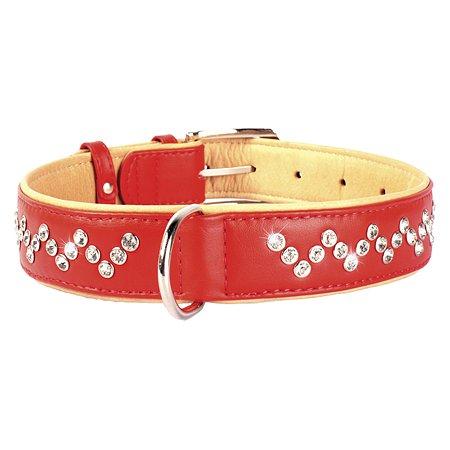 Ошейник для собак CoLLar Brilliance со стразами премиум класса Красный 38033
