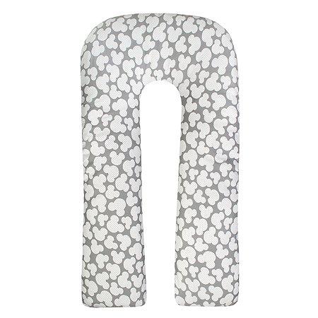 Подушка для беременных AMARO BABY Ушки U-образная Серый ABDM-40U-MS