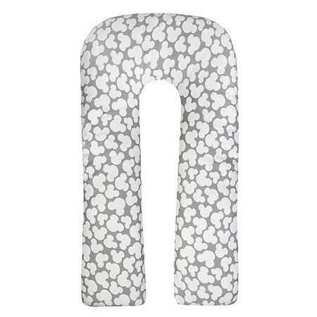 Подушка для беременных Amarobaby Ушки U-образная Серый ABDM-40U-MS
