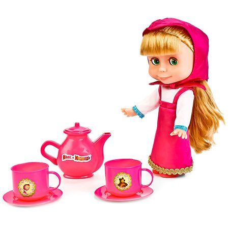 Кукла Карапуз Маша с набором для чаепития(83033T (9)