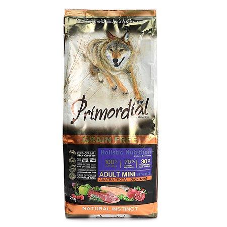 Корм для собак Primordial мелких пород беззерновой форель-утка 2кг