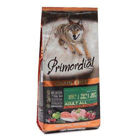 Корм для собак Primordial беззерновой курица-лосось 2кг
