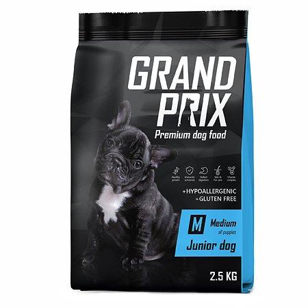 Корм для щенков Grand Prix Medium Junior курица 2.5кг