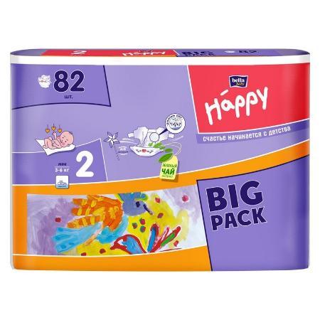 Подгузники Bella baby Happy Mini 2 3-6кг 82шт - купить в интернет магазине  Детский Мир в Москве и России, отзывы, цена, фото 0a834ff302a