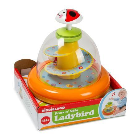 Развивающая игрушка Kiddieland Юла Божья коровка