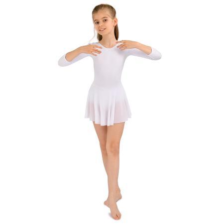 Купальник гимнастический Futurino Sport белый - купить в интернет магазине Детский  Мир в Москве и России 30d0f7f7b0b8e