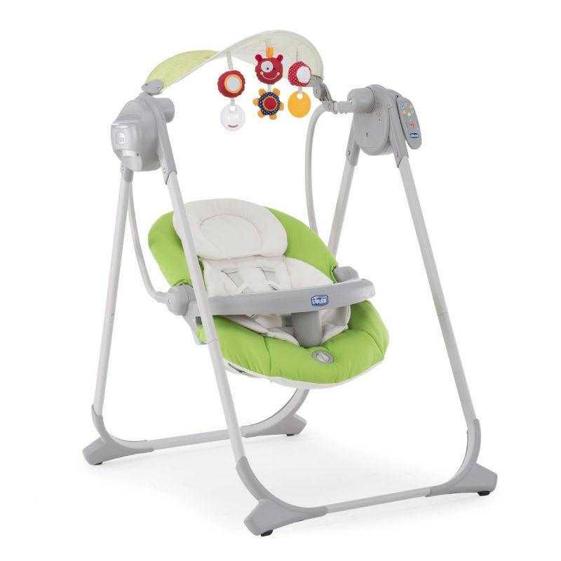Кресло качалка polly swing chicco