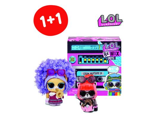 Акция 1+1 на куклу LOL Surprise! Remix Питомец