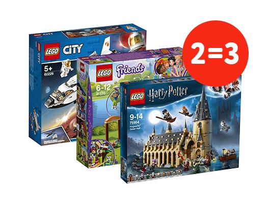 Только в интернет-магазине: акция 3=2 на весь ассортимент LEGO